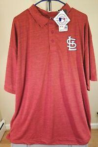St. Louis Cardinals MLB Majestic Classic Red Team Logo 3XLT Shirt