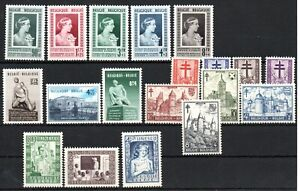 BELGIUM , 1951 , 1952 , nice lot of FOUR SCARCE / BETTER  SETS , MNH ! .