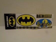 Vintage  4 VINYL DECALS BATMNAN 1989 DC COMICS in Originalverpackung