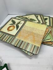 Pimpernel Set 8 Couture Fruits Cork Backed Dinner Size 12x16 Placemats