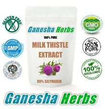 100% pure MILK THISTLE HIGH POTENCY EXTRACT (80% SILYMARIN) 50 grams LIVER DETOX