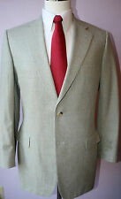 Paul Stuart Beige Two Button Side Vented Silk Wool Suit 41 L Jacket 32 31 Pants