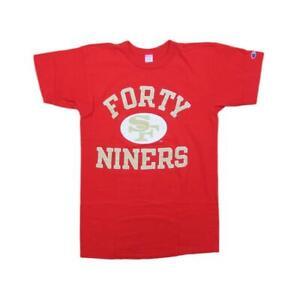 San Francisco 49ers Vintage Champion Football T-Shirt Sz L