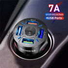 4 USB Port Fast QC 3.0 Car Charger Adapter for iPhone Samsung Android Cell Phone