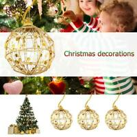 6pcs Christmas Tree Gold Ball Baubles Hanging Party Ornament Xmas Decor 5CM/6CM