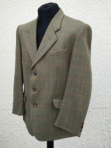 "Vintage Allens Of Harrogate Tailored Tweed Blazer Jacket 44"" Chest"