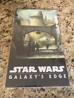 D23 2019 STAR WARS GALAXY'S EDGE ART PRINT POSTER MILLENIUM FALCON BATUU DISNEY