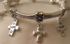 Hope Faith Love Stretch Bracelet