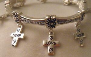 Hope Faith Love Stretch Bracelet