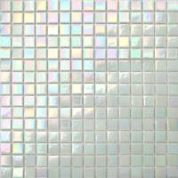 White Iridescent Vitreous Glass Mosaic Tile Sheet 300x300x4mm (MT0131)