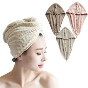 Coral Fleece Bath Towel Hair Dry Quick Drying Lady  Towel Soft Shower Cap Hat