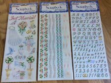 Sandylion Wedding Stickers, Alphabet, & Border Scrapbooking sticker set