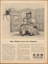 1944 Vintage ad for National Dairy Products Corp`MIss Muffet WWII era(030717)