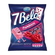 ARCOR 7 BELO Sabor Framboesa - Raspberry Chew Candy 600 gr.
