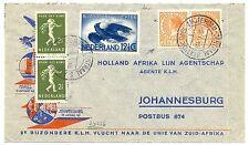 NED INDIE DUTCH INDIES 1940-1-15   SPEC FL. CV. JOHANNISBURG 2 x 22½ CT ORANGE