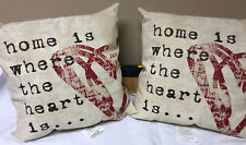 Brentwood Originals Home is Where the Heart is... Throw Pillow Lot of 2