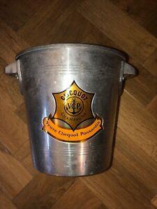 Vintage Veuve Clicquot Metal Ice Bucket Used