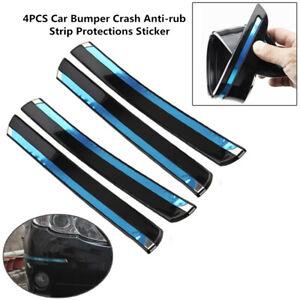 4PCS Car Front+Rear Bumper PVC Crash Anti-rub Strip Protections Sticker Durable
