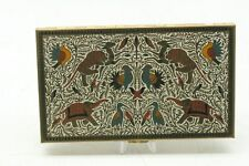 Vintage Enameled Cigarette Case, VOLUPTE, Persian Ottoman Empire Style