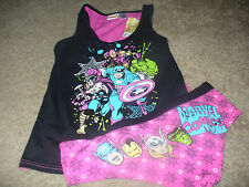 Marvel Comics Hulk Thor Womens Juniors PJ Set Sleep Pajama Tank Panties XL 15/17