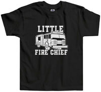 Threadrock Kids Little Fire Chief Toddler T-shirt firefighter truck