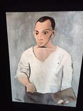 """Pablo Picasso """"Self Portrait W/ Palette"""" 35mm Spanish Cubism Art Slide"""