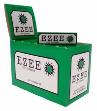 NEW Ezee Green Rolling Paper Cigarette Standard Size Cut Corner 100 Booklets Box