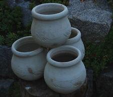 4er Set: Mediterrane Kräuterschale Kräutertopf Blumensäule Topf Terracotta 4xØ20