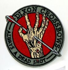 """Walking Dead Dixon Crossbows Always a Dead Shot Embroidered 3"""" New Iron-On Patch"""