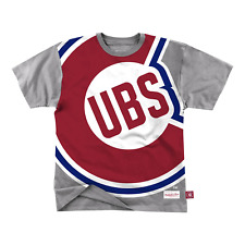 Mitchell & Ness Grey Heather MLB Chicago Cubs Big Face T-Shirt