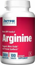 Jarrow Formulas L-Arginine Tabs, 1000 mg, 100 count, EXP 01/2020