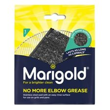 4 X Marigold No More Elbow Grease Stainless Steel Sponge Pad Washing Up Scourer