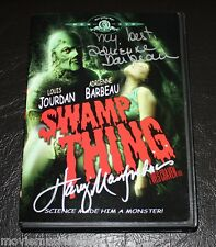 Wes Craven's THE SWAMP THING DVD signed by ADRIENNE BARBEAU & HARRY MANFREDINI