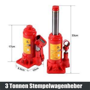 3000kg Wagenheber Stempelheber Hydraulikheber Stempelwagenheber hydraulisch 3t