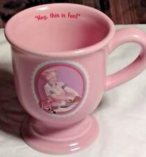 I Love Lucy Job Switching 12 oz Pink  Pedestal Mug Cup Lucille Ball ...... (YY)