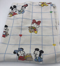Vintage Baby Mickey & Minnie Mouse Flannel Receiving Baby Blanket 90s