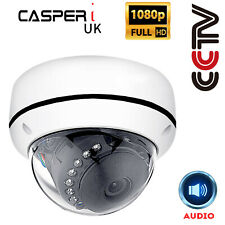 1080P IP CCTV IR Dome Network Surveillance Camera Built-in Mic Audio Wide Angle
