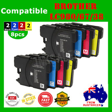 8x Ink Cartridge LC980 LC67 LC38 For Brother DCP 145C 165C MFC 795CW 820CW 930