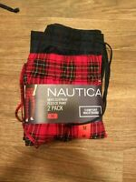 NWT 2 Pack Men's Nautica Fleece Pajama Lounge Pants, Sleepwear,