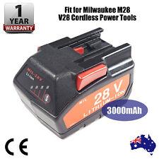 28V 3000mAh Batteries for Milwaukee M28 V28 HD28 Cordless Power Tool Battery AU