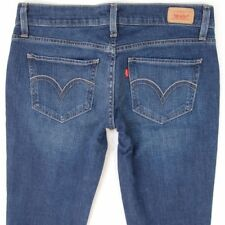 Señoras MUJERES Levis 524 SUPERLOW delgados elastizados Blue Jeans TOO W30 L34 Talla 10