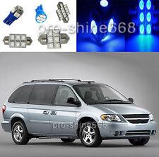 Blue LED Interior Lights 18PCS Plate Package for Dodge Caravan 2001 2007
