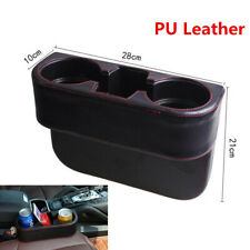 Black Universal Car SUV Seat Console Seam Organizer Cup Holder Storage Bo x 1Pcs