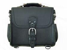 Saddleback Leather SMALL SATCHEL Black Script Logo EUC