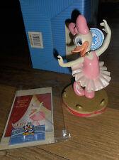 "RARE Disney Mickey & Friends Daisy Duck ""Tu Tu Cute"" Ballerina Figurine NIB"