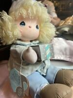 Precious Moments Melody Musical Applause Doll on Sled # 21379 Winter Wonderland