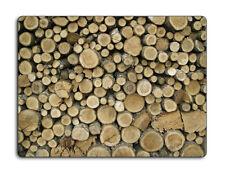 Work top saver, Glass Chopping board 40 x 30 Logs design