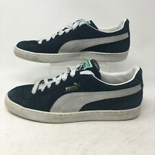 Puma Classic Sneakers Shoes Low Top Lace Up Suede Navy Blue Gray Mens 11