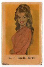 1960s Swedish Film Star Card Star D Set # 7 French Sex Symbol Brigitte Bardot