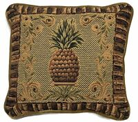Platinum Couture Pineapple Decorative Throw Pillow Tapestry